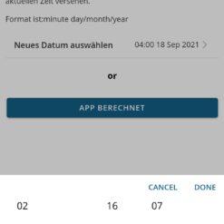 iButton Bluetooth Start Uhrzeit Datum setzen